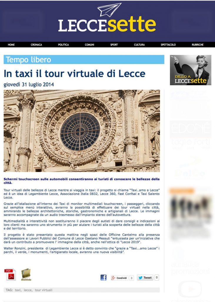 LecceSette---Tempo-libero,-In-taxi-il-tour-virtuale-di-Lecce-(20140803)
